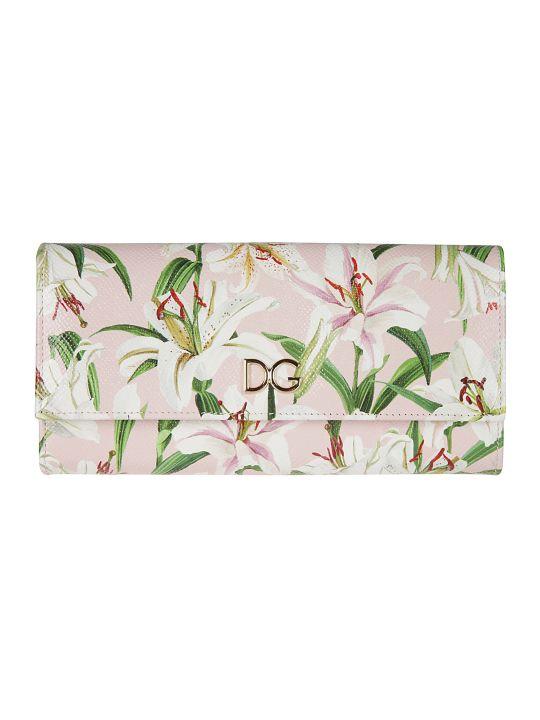 Dolce & Gabbana Dauphine Print Continental Wallet