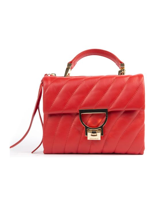 Coccinelle Arlettis Quilted Red Leather Handbag
