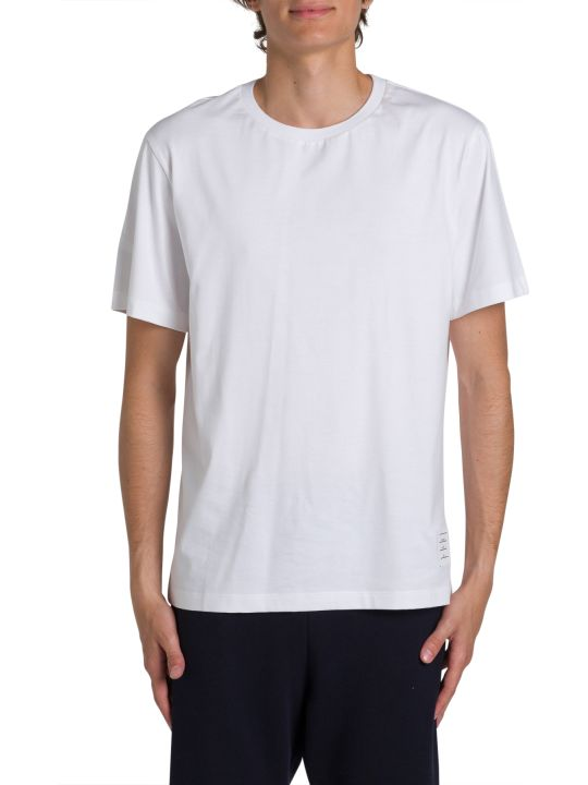 Thom Browne Silde-slits Relaxed Tee