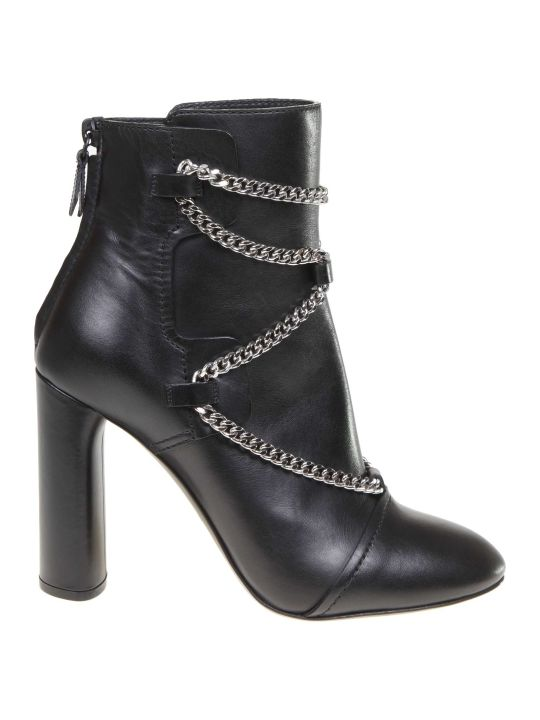 Casadei Zoe Ankle Boot In Black Leather