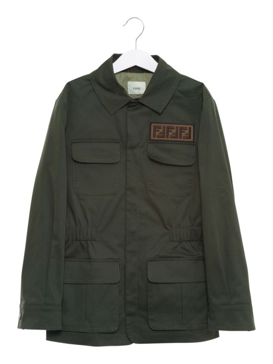 Fendi Ff Patch Gabardine Bush Jacket