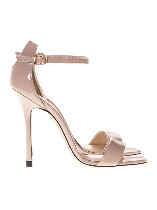 Marc Ellis Powder Patent High  Leather Sandals