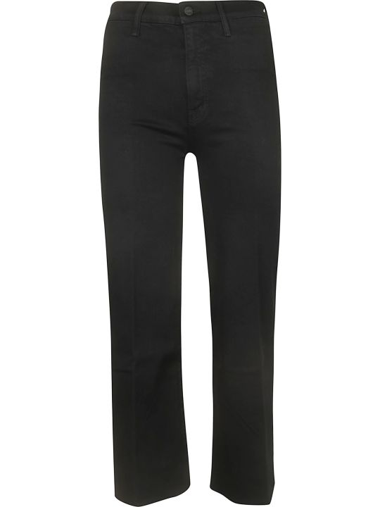 Mother Swooner Cropped Fray Jeans