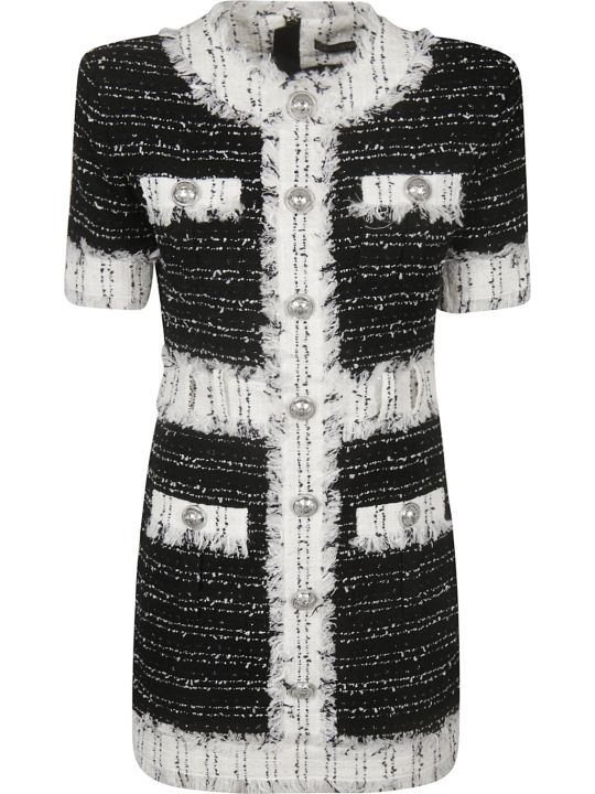 Balmain Button Tweed Dress