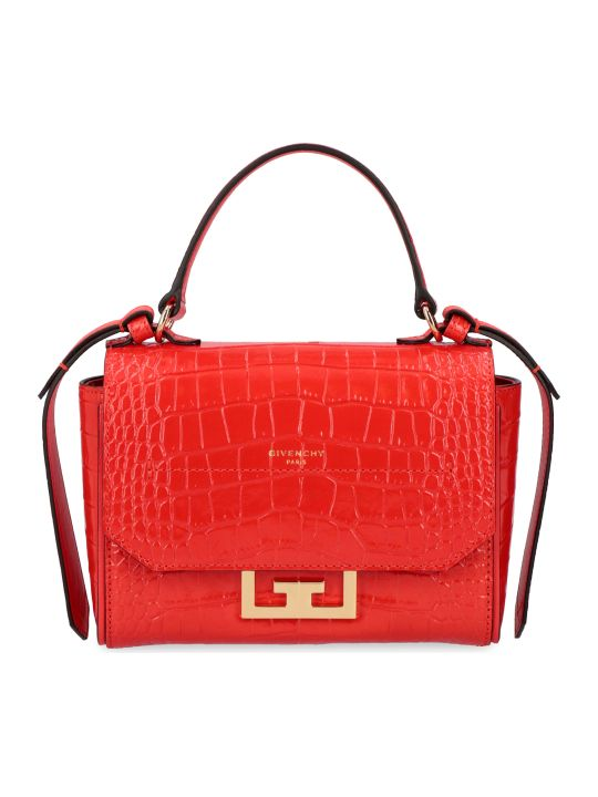 Givenchy Eden Crocodile Print Leather Mini-bag