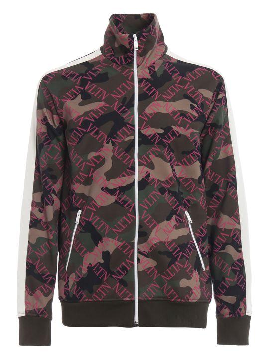 Valentino Vltn Grid Jersey Sweatshirt