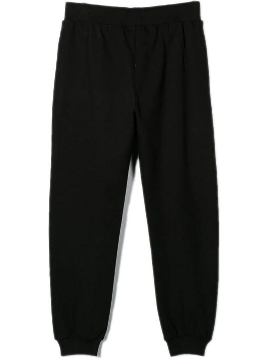 Moschino Black Cotton Track Pants