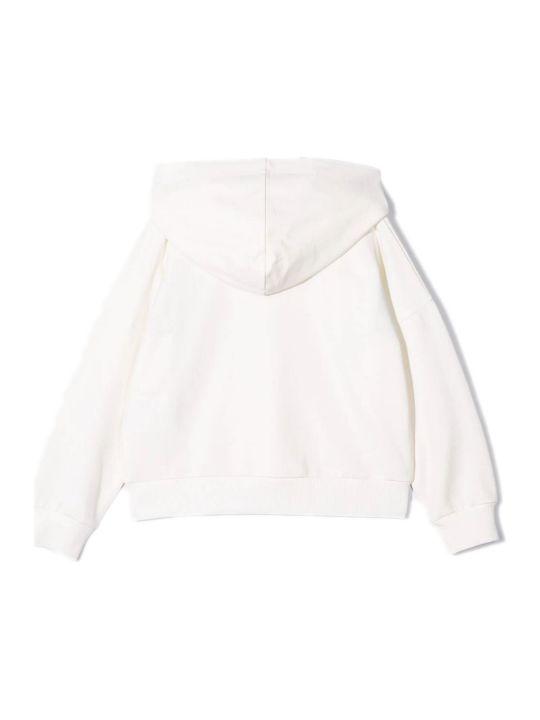 Moncler White Cotton Hoodie