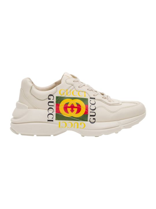 Gucci Rhyton Gucci Logo Leather Sneaker