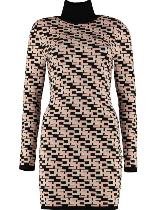 Elisabetta Franchi Celyn B. Knitted Jacquard Dress