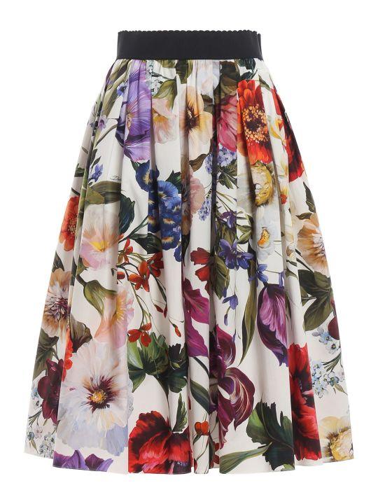 Dolce & Gabbana Dolce Gabbana Floral Midi Skirt