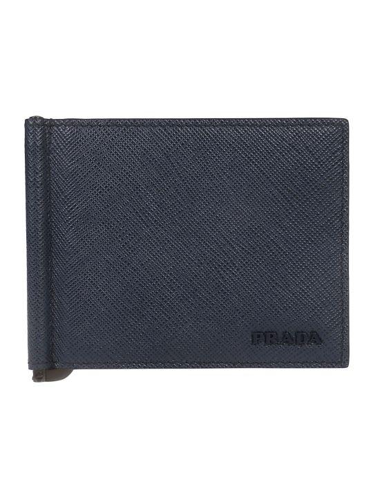 Prada Embossed Logo Detail Bifold Wallet