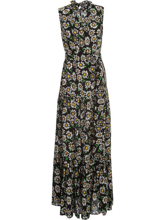 M Missoni Dress W/s Crew Neck Wide Skirt Fantasy Flowers