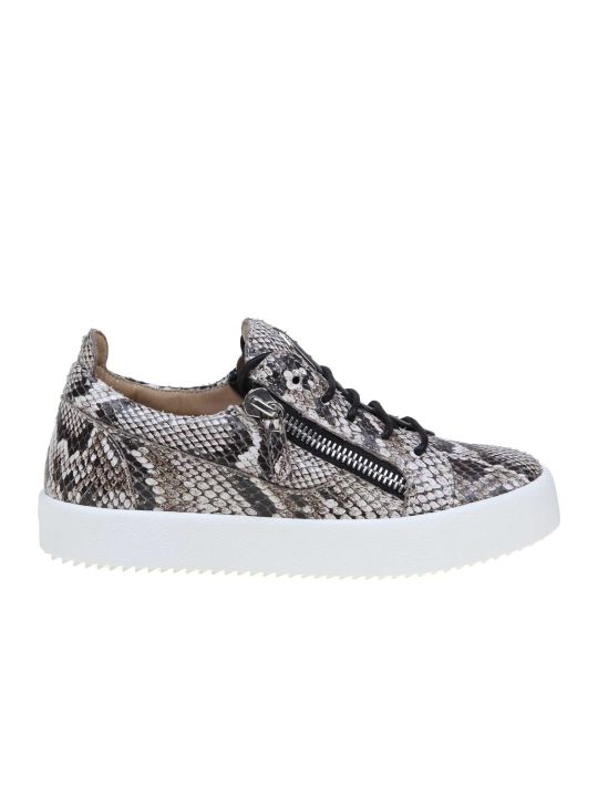 Giuseppe Zanotti Sneakers Gail Python In Leather