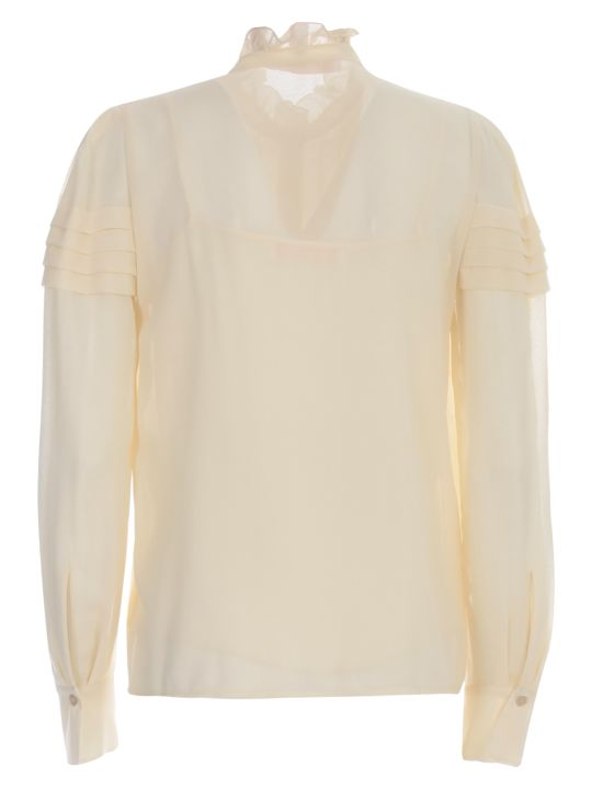 See by Chloé Embellished Georgette Shirt