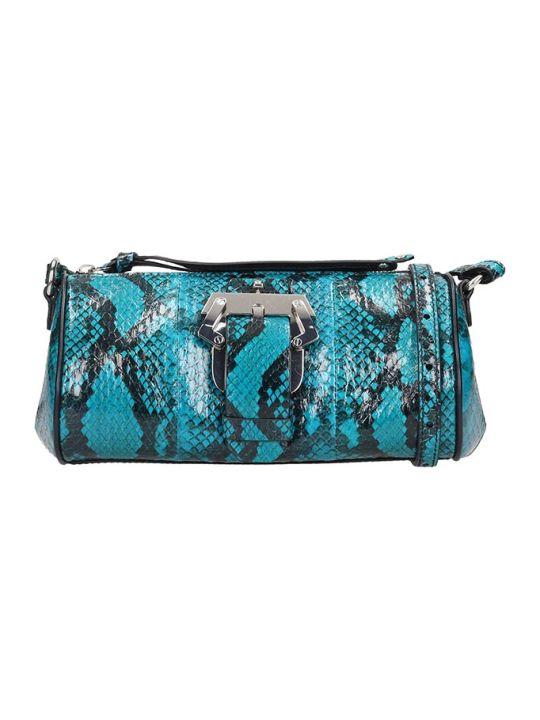 Paula Cademartori Baru Small Shoulder Bag In Cyan Leather