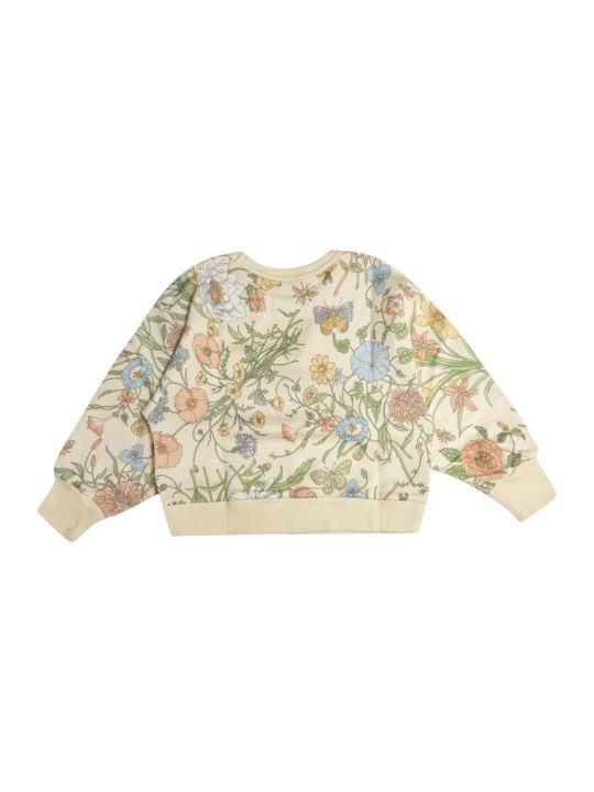 Gucci Flower Print Embroidered Logo Sweatshirt