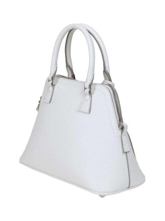 Maison Margiela Mini Handbag 5ac White Calf Leather