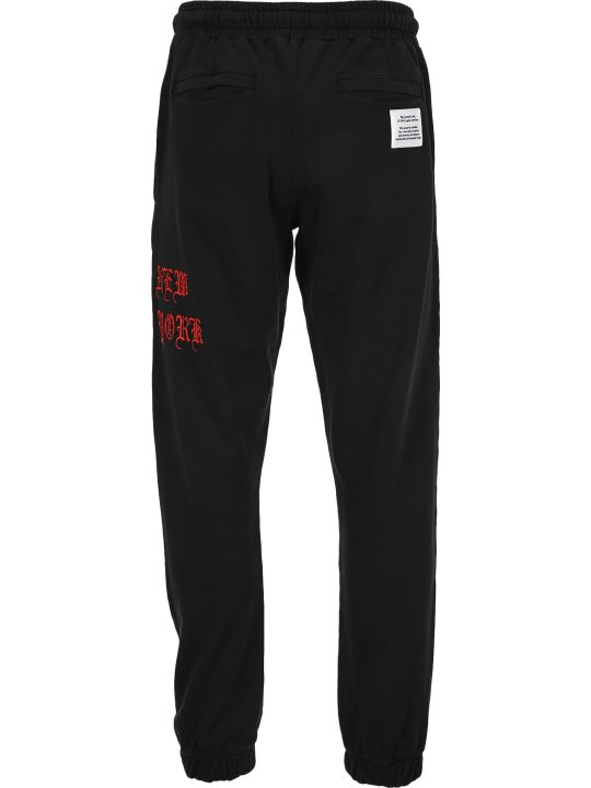 HERON PRESTON Stitched Logo Track Pants
