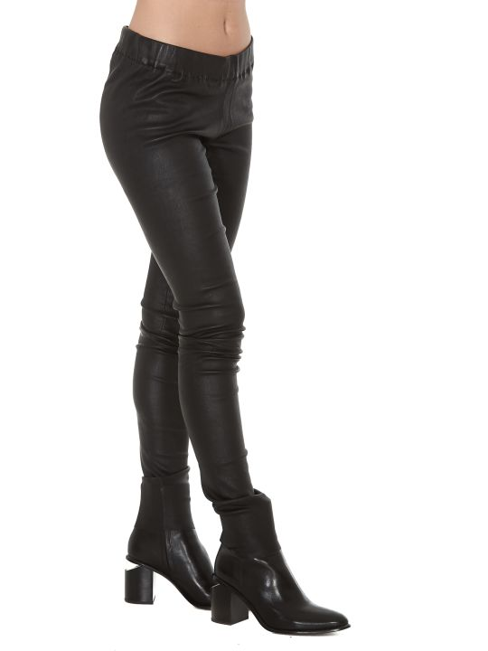Sylvie Schimmel Fun Strecht Vintage Leather Trousers