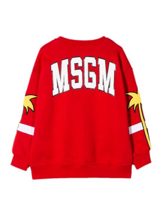 MSGM Red Cotton Sweatshirt