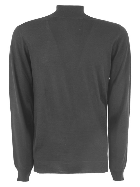 Fedeli Black Virgin Wool Sweater