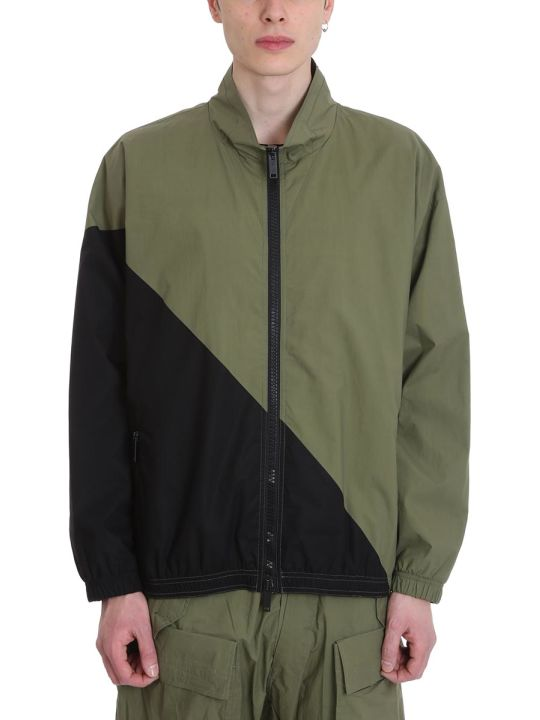 Ben Taverniti Unravel Project Green/black Cotton Jacket