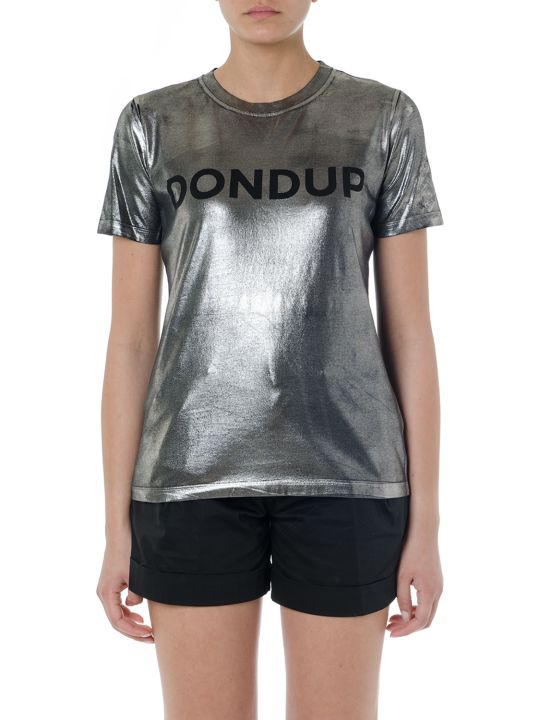 Dondup Black & Grey Elastic Cotton Ogo   T-shirt