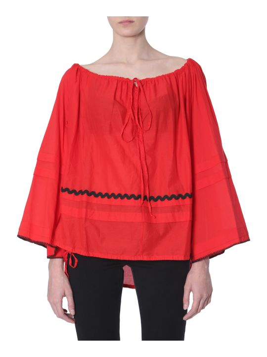 McQ Alexander McQueen Blouse With Appliquéd Trims