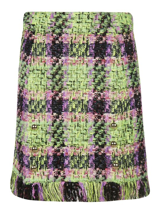 Blumarine Fringed Skirt