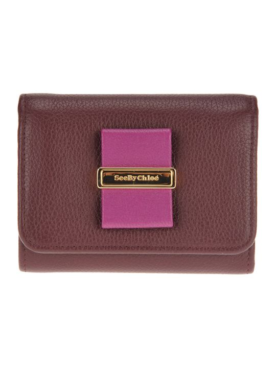 See by Chloé See By Chloe' Logo Plaque Wallet