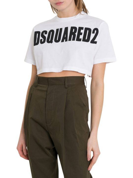 Dsquared2 Cropped Tee With Logo