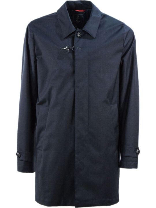 Fay Dark Blue Travel Raincoat
