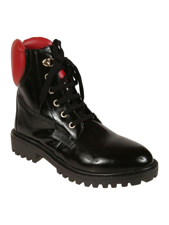 Love Moschino Logo Lace-up Boots