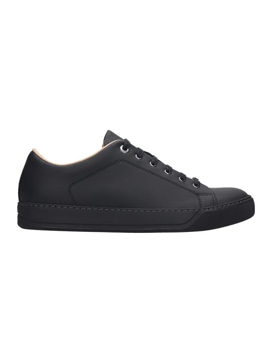 Lanvin Low Top Sneakers In Black Leather