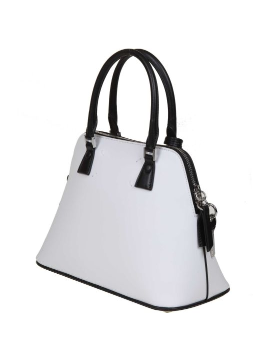 Maison Margiela Handbag 5ac Uv Mini In Calf Leather White Color