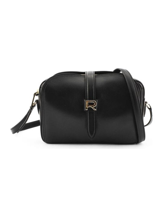 Rochas Black Leather Mini Bag