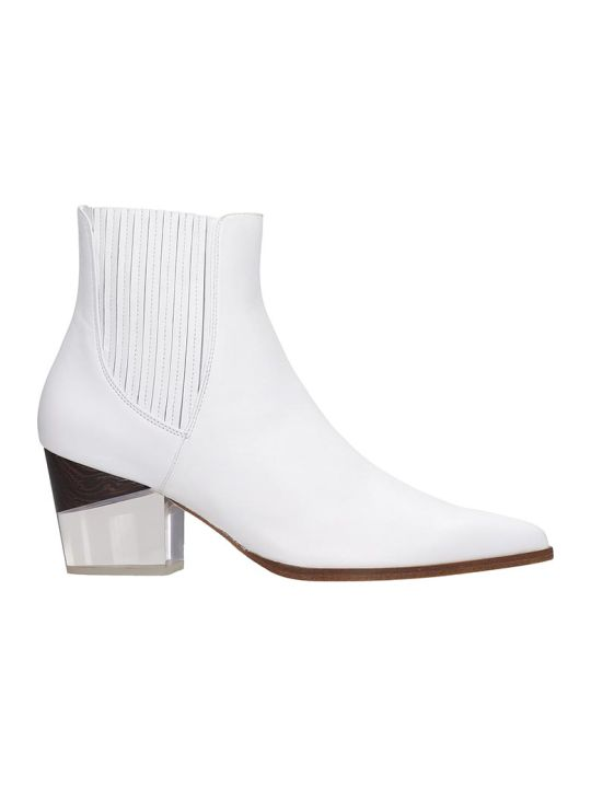 Alexandre Birman Ankle Boots In White Leather