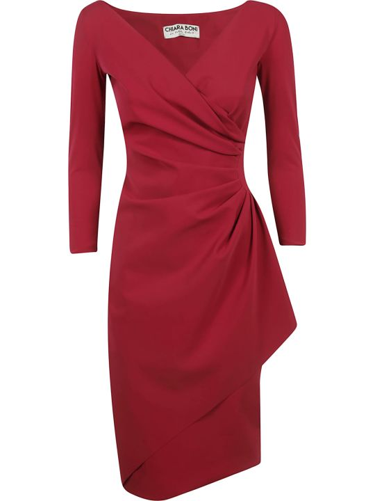 La Petit Robe Di Chiara Boni Draped Long-sleeved Dress