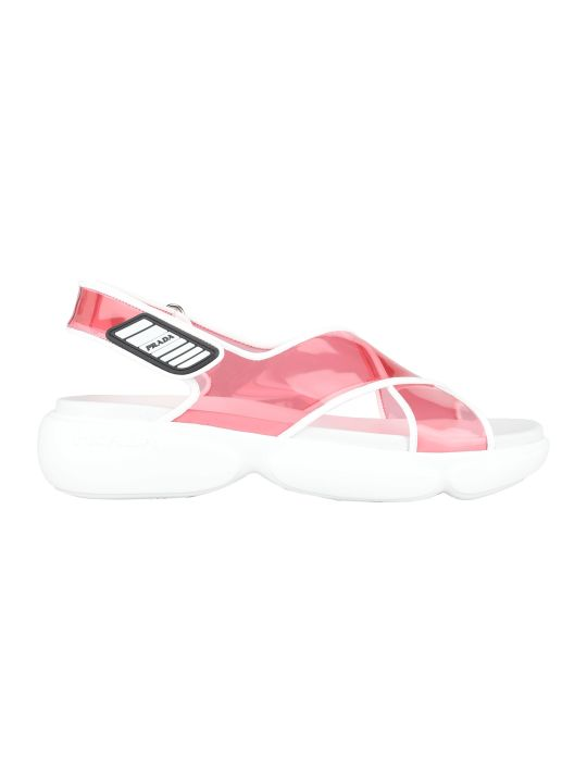 Prada Clooudbust Plexi Sandal