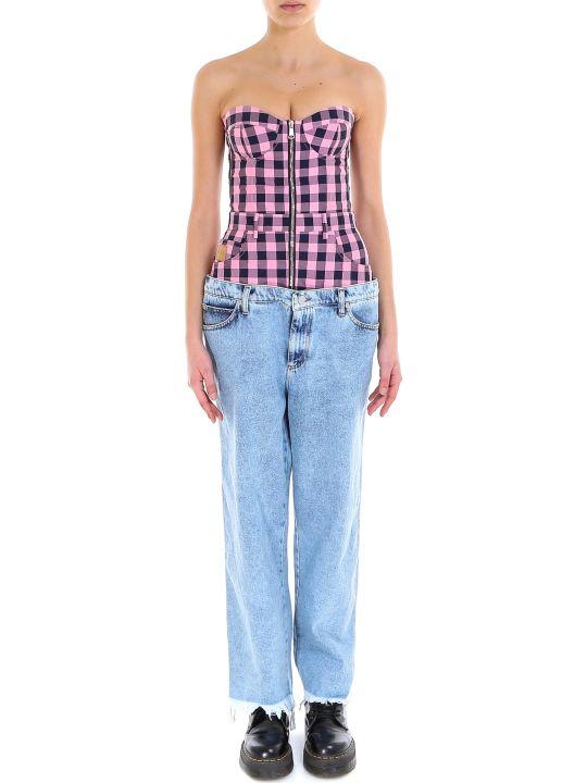Natasha Zinko Oversized Jeans Corset Top Jumpsuit