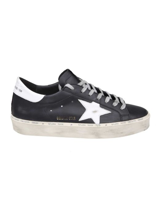 Golden Goose Black Leather Hi-star Sneakers