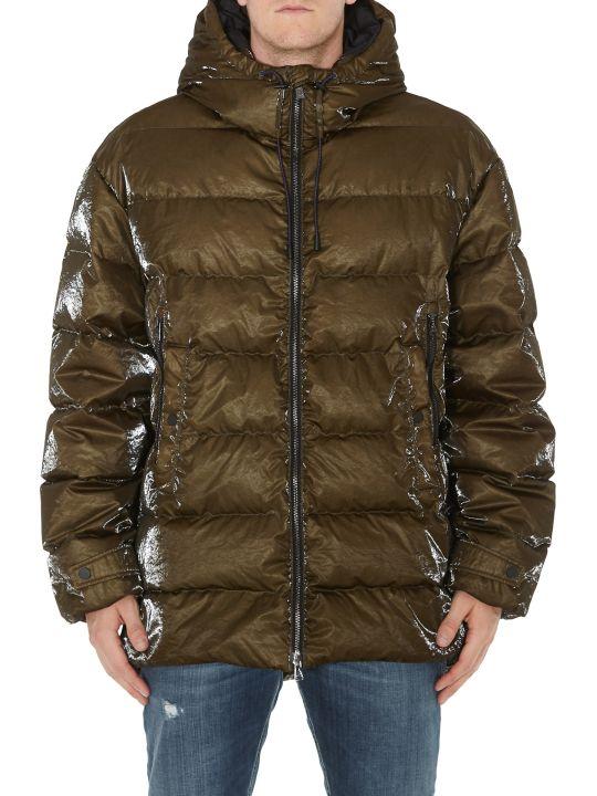 Ahirain Hoodie Jacket Gloss Rain Down Jacket
