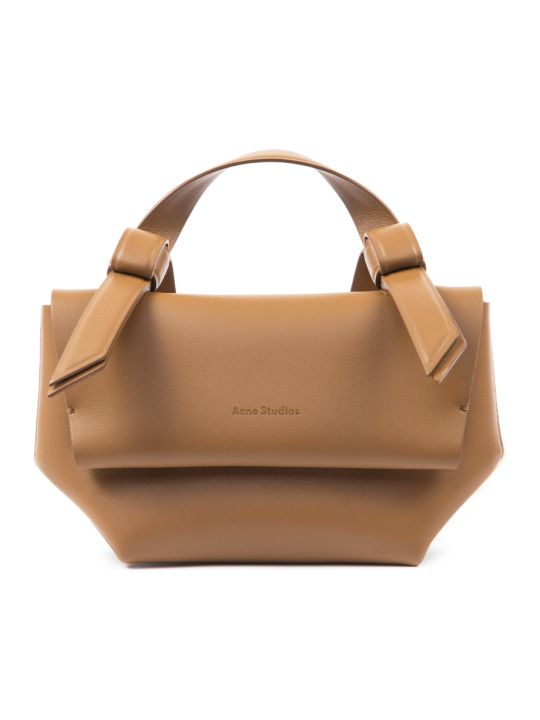 Acne Studios Caramel Leather Musubi Small Handbag
