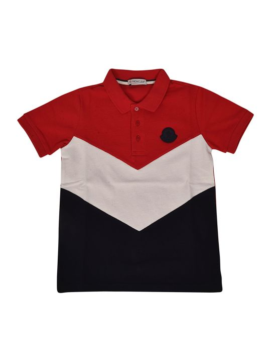 Moncler Kids Tricolor Polo Shirt