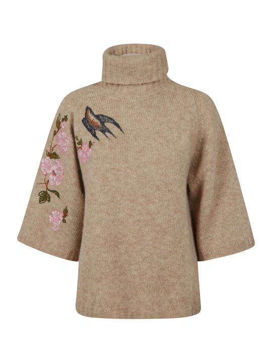 RED Valentino Floral Oversized Sweater