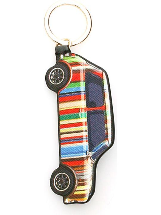 Paul Smith Signature Stripe Mini Car Key Ring