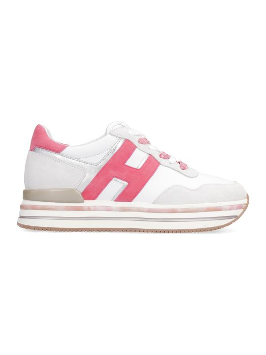 Hogan H515 Leather Platform Sneakers