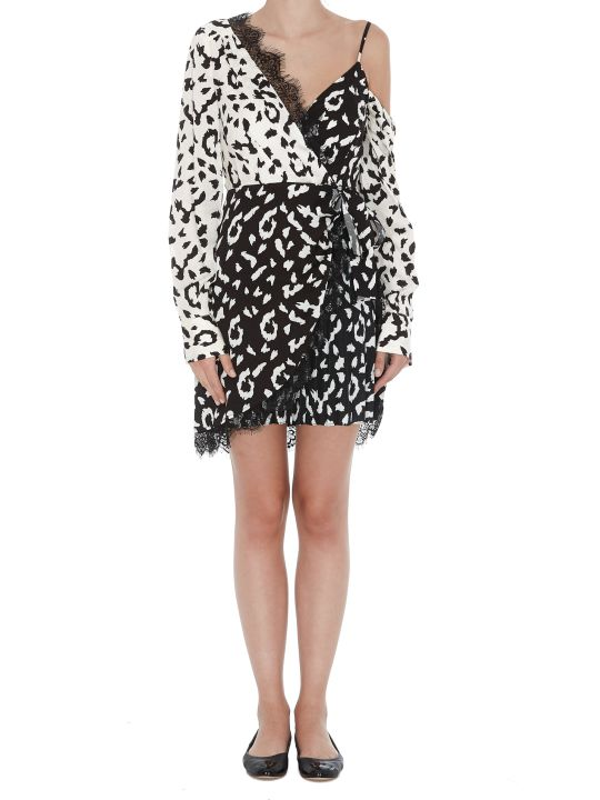 self-portrait Mini Dress Animalier