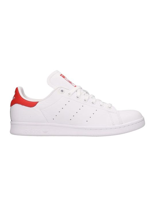 Adidas Sant Smith Sneakers In White Leather